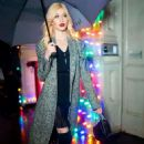 Katherine McNamara – Visits Stella McCartney Holiday Party in New York