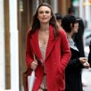 Keira Knightley film scenes for the upcoming movie 'Collateral Beauty' in New York City, New York on April 1, 2016 - 454 x 573