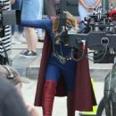 Melissa Benoist – On the set of 'Supergirl' in Vancouver