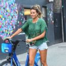 Kelly Bensimon in Cut-offs out in NYC - 454 x 682