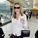 Amanda Holden Arriving At Heathrow Airport