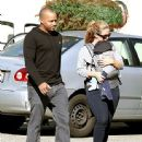 Donald Faison and CaCee Cobb Buying Christmas Tree - 443 x 560