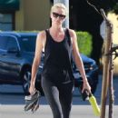 Charlize Theron – Outside SoulCycle in Los Angeles - 454 x 681