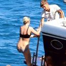 Kristen Stewart and Stella Maxwell in Bikini on the yacht at the Amalfi Coast