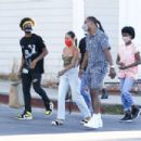 Karrueche Tran and boyfriend Victor Cruz – Out and about