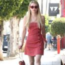 Emma Roberts in Red Mini Dress – Out in Silverlake - 454 x 681