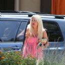 Tori Spelling – Clebrates Her 45th Birthday At Garland Hotel In Los Angeles - 454 x 555