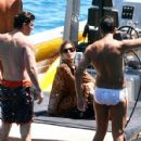 Eva Mendes And George Gargurevich On Dolce & Gabbana Yacht In Italy - 428 x 594