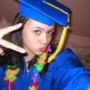 Rebecca Brown after she graduated from Junior High School doing a silly pose