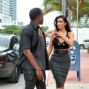 Kim Kardashian: heads out for an early dinner in Miami