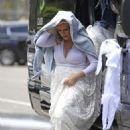 Abi Titmuss wearing her wedding dress in Malibu - 454 x 681