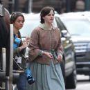 Emma Watson – Filming 'Little Women' in Boston