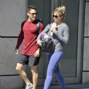 Gemma Atkinson and Gorka – Leave a gym in Manchester - 454 x 545