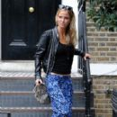 Sarah Harding: leaving a house in London
