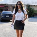 Kim Kardashian: stop off for a Cuban coffee at a sandwich stand in Miami