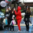 Kourtney Kardashian celebrating a friend's birthday at Lovis Restaurant in Calabasas, California on January 9, 2017 - 454 x 353