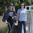 Nina Dobrev in Jeans out in LA - 454 x 614