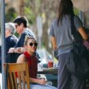 Miley Cyrus grabbed a bite to eat, January 29, in Los Angeles