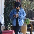 Vanessa Hudgens in Denim Jacket – Out in Studio City
