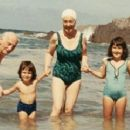 Otto Frank with Fritzi, and Eva's three daughters in Cornwall in 1965. Photograph - 454 x 241
