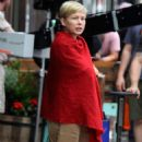 Michelle Williams at the 'After The Wedding' set in Manhattan - 454 x 852