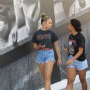 Maddie Ziegler in Denim Shorts – Shopping on Rodeo Drive in Beverly Hills