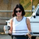 Lucy Hale – Heads to the gym in Los Angerles