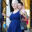 Amber Rose Shopping at Bel Bambini in West Hollywood, California - October 4, 2012