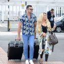 Bianca Gascoigne and boyfriend CJ Meeks Arrives at the airport in London - 454 x 526