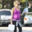 Stacy Keibler in Tights – Shopping at Bristol Farms in Beverly Hills