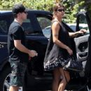 Elisabetta Canalis and her hubby are spotted out running errands in West Hollywood, California on August 29, 2015 - 442 x 600