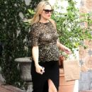 Molly Sims Leaves A O C Restaurant In Beverly Hills