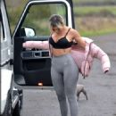 Chloe Ferry – With her puppy out on a walk in Newcastle