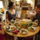 Sam Trammell as Sam Merlotte, Janina Gavankar as Luna Garza and Chloe Noelle as your Daughter Emma in True Blood (Fourth Season) (2011)