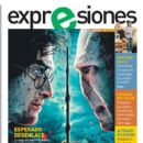 Ralph Fiennes, Daniel Radcliffe, Harry Potter and the Deathly Hallows: Part 2 - Expresiones Magazine Cover [Ecuador] (12 July 2011)