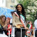Pia Toscano Sings Out at the Columbus Day Parade