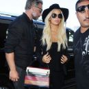 Jessica Simpson departing on a flight at LAX airport in Los Angeles, California on September 7, 2015