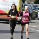 Jess Impiazzi – Jogging with her mum in Surrey