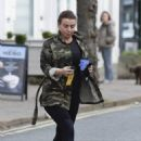 Coleen Rooney – In camo Out and about in Cheshire - 454 x 643