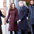 Prince Windsor and Kate Middleton visit Hartvig Nissen School