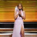 Jennifer Lopez speaks onstage during The 59th GRAMMY Awards at STAPLES Center on February 12, 2017 in Los Angeles, California
