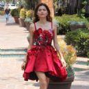 Blanca Blanco in Red Dress – Out in Malibu - 454 x 681