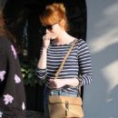 Actress Emma Stone is seen leaving the Meche Salon in West Hollywood, California on June 8, 2016 - 454 x 592