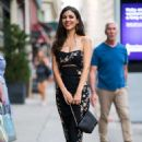 Victoria Justice in Print Dress – Out in New York - 454 x 681
