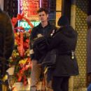 "Emma Stone and Andrew Garfield on the set of ""The Amazing Spider-Man 2"" in NYC (March 1)"