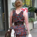 Rebecca Mader - Walking Her Dog, Los Angeles, CA, July 12, 2010