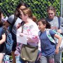 Melissa McCarthy out with her daughters and their friends in Los Angeles, California on April 04, 2017 - 390 x 600