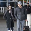 Neve Campbell At Jfk Airport In Nyc