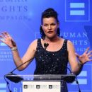 Actress Pauley Perrette speaks to the audience at the 'Human Rights Campaign 2016 Los Angeles Gala' held at the JW Marriott Los Angeles at L.A. LIVE on March 19, 2016 in Los Angeles, California - 454 x 362