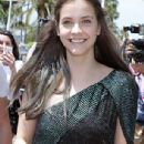 Fresh-faced Barbara Palvin flaunts her leggy figure in two thigh-skimming dresses and towering heels as she steps out in Cannes - 306 x 617